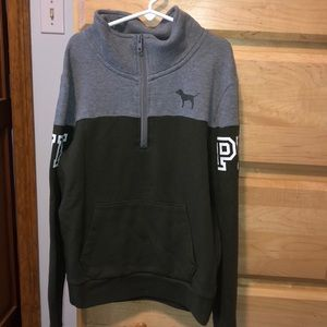 Grey and Green VS quarter zip